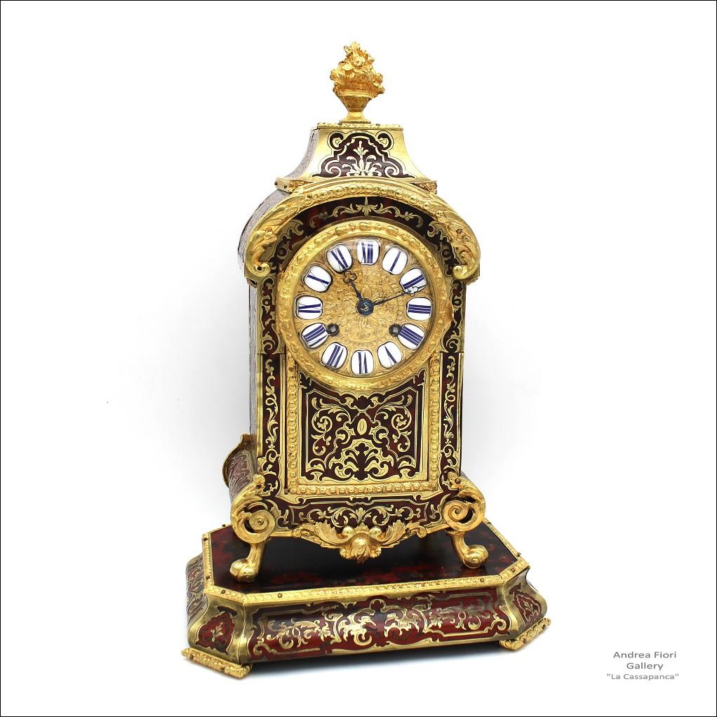 Antico Orologio a Pendolo Cartel Boulle - epoca XIX secolo