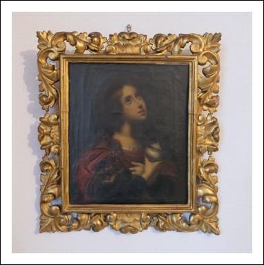 """Dipinto antico olio su tela raffigurante raffigurante""""La Maddalena"""".Firenze XIX secolo."""