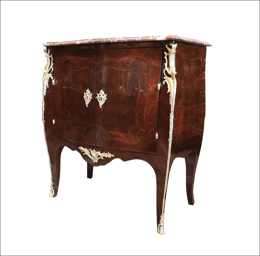 Cod: 244196 Credenza antica Luigi XV Francese in ebano viola. Periodo XVIII secolo