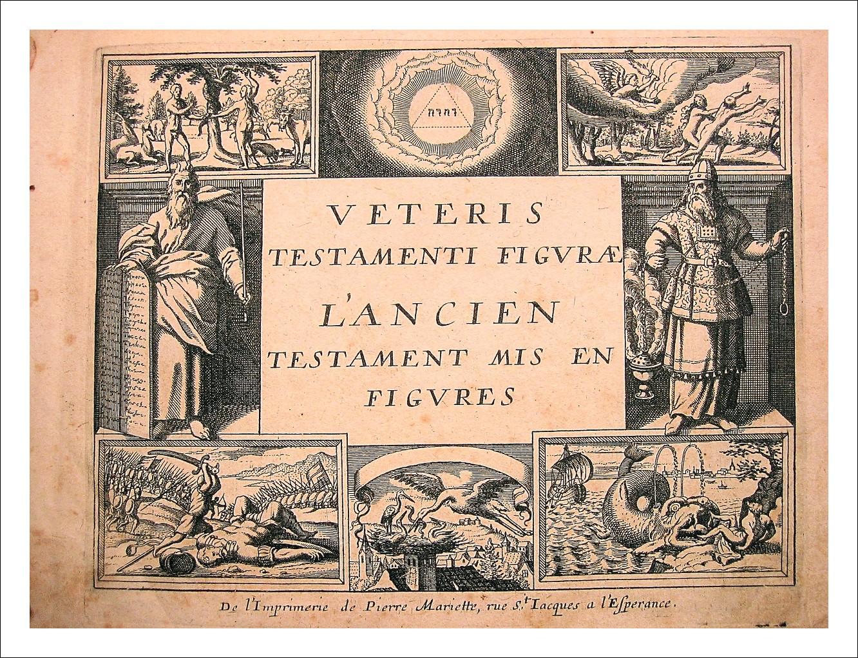 Veteris Testamenti Figurae - Novi Testamenti Figurae.  233 incisioni - 1652 - COMPLETO
