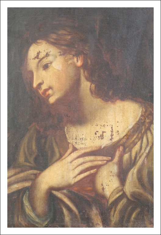 Antico Dipinto Olio su Tela epoca XVII scuola toscana prima tela!!Antiquariato