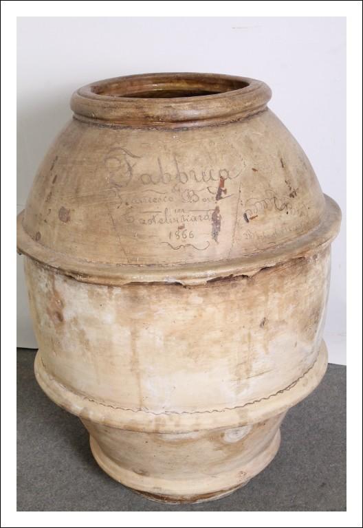 Antico grande Orcio  Umbro  1866 spettacolare  Vaso datato e disegnato ! altezza cm 100 circonferenz