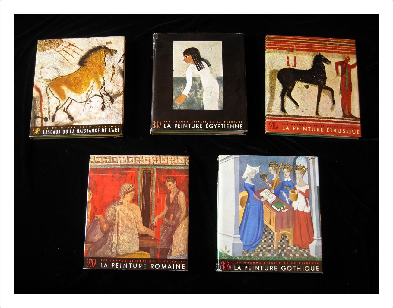 Les grands siecles de la peinture- 10 VOLUMI- Geneve: by Editions d'Art Albert Skira
