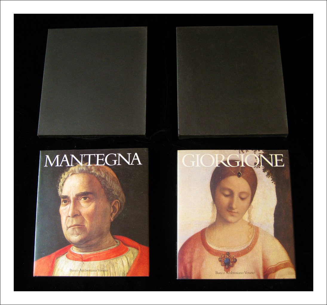 Giorgione e Mantegna - Due volumi integri  con due contenitori in cartoncino nero