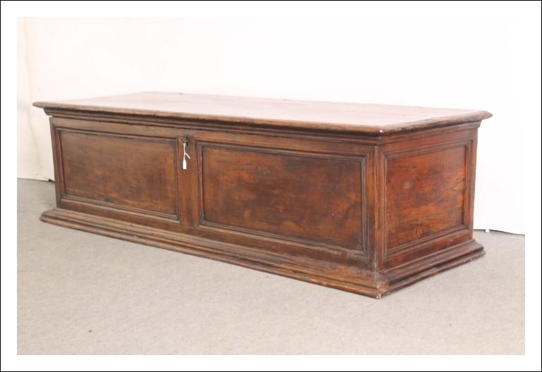 Antica cassapanca – baule Pioppo epoca XVII Emilia bellissima patina mis 168x 59 restaurata !